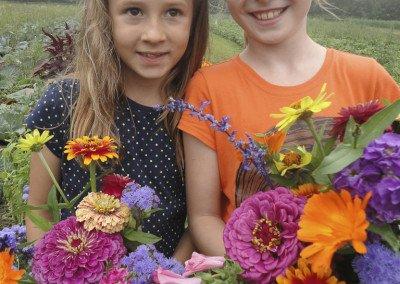 Flower picking buds