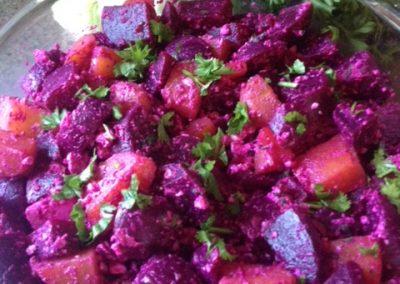 beets and feta