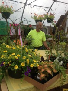 Jerry McDougal in the Greenhouse